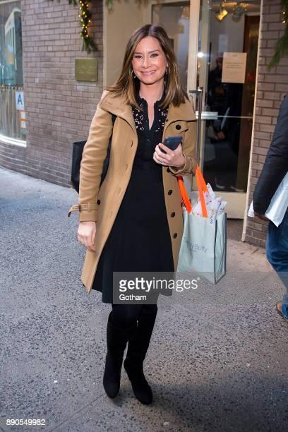 Rebecca Jarvis is seen in Midtown on December 11 2017 in New York City