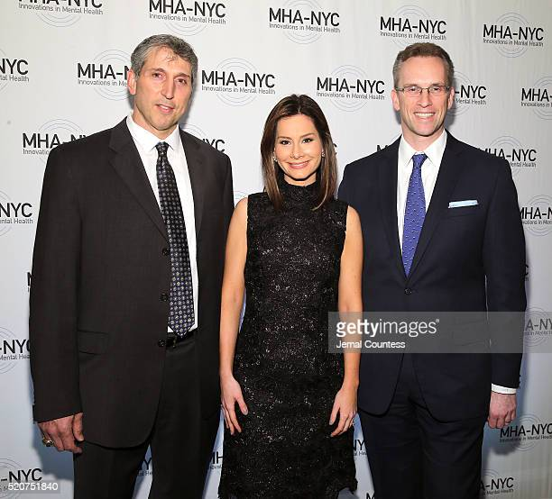 Rebecca Jarvis Mark Bavaro Charles Fitzgerald attend 2016 Many Faces Of Mental Health Gala at The Pierre Hotel on April 12 2016 in New York City