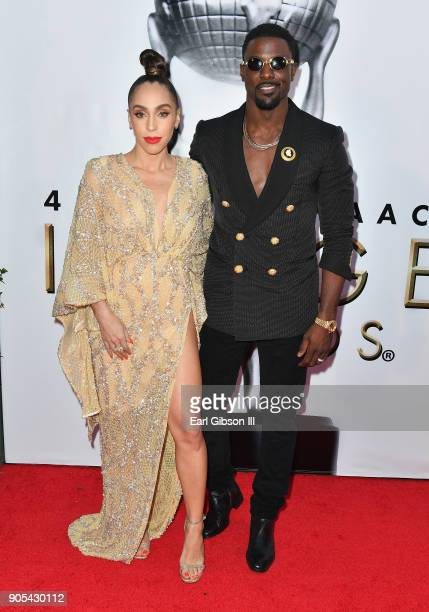 Rebecca Jefferson and Lance Gross at the 49th NAACP Image Awards on January 15 2018 in Pasadena California