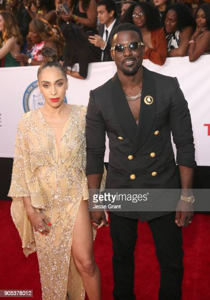 Rebecca Jefferson and Lance Gross attend the 49th NAACP Image Awards at Pasadena Civic Auditorium on January 15 2018 in Pasadena California