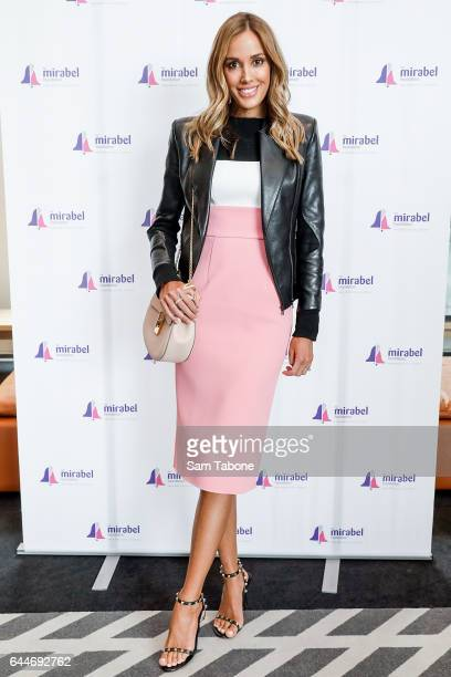 Rebecca Judd arrives ahead of the 2nd Annual Mirabel Ladies Lunch at Glasshouse on February 24 2017 in Melbourne Australia
