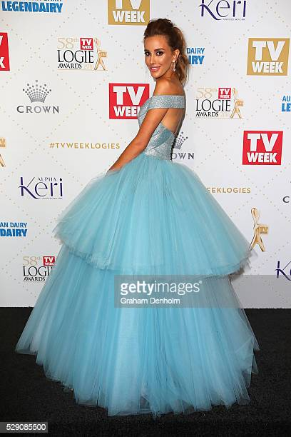 Rebecca Judd arrives at the 58th Annual Logie Awards at Crown Palladium on May 8 2016 in Melbourne Australia