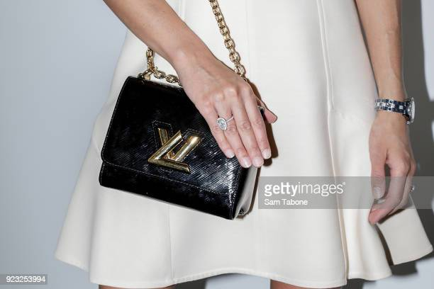 Rebecca Judd arrives at the Louis Vuitton Time Capsule exhibition at Chadstone Shopping Centre on February 23, 2018 in Melbourne, Australia.
