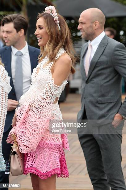 Bec Judd attends Caulfield Cup Day at Caulfield Racecourse on October 21 2017 in Melbourne Australia