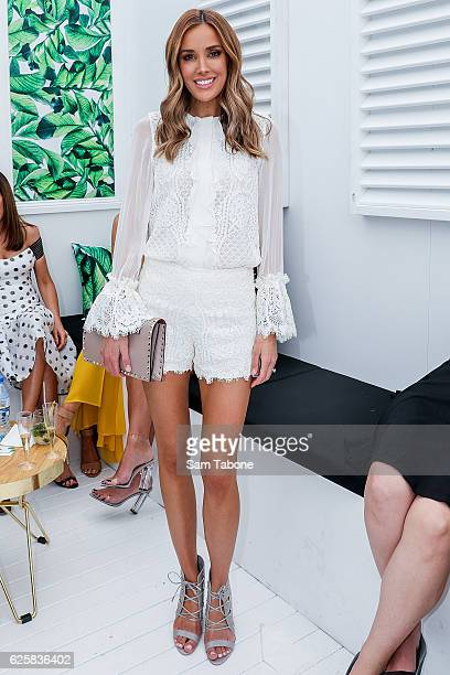 Rebecca Judd attends the Land Rover marquee at Land Rover Polo in The City at Albert Park on November 26 2016 in Melbourne Australia