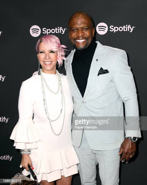 Rebecca KingCrews and Terry Crews attend Spotify Best New Artist 2019 event at Hammer Museum on February 7 2019 in Los Angeles California
