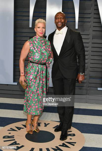 Rebecca KingCrews and Terry Crews attend the 2018 Vanity Fair Oscar Party hosted by Radhika Jones at Wallis Annenberg Center for the Performing Arts...
