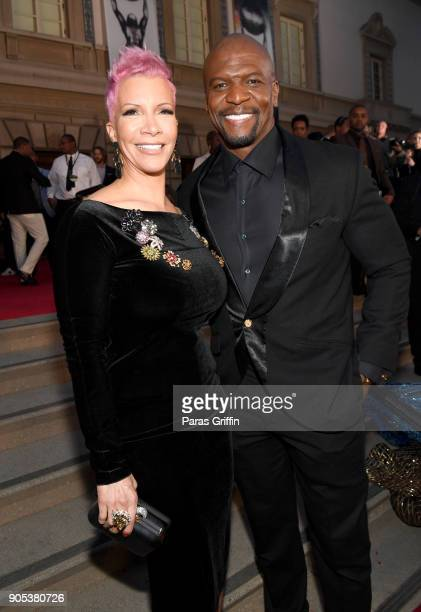 Rebecca KingCrews and Terry Crews attend the 49th NAACP Image Awards at Pasadena Civic Auditorium on January 15 2018 in Pasadena California