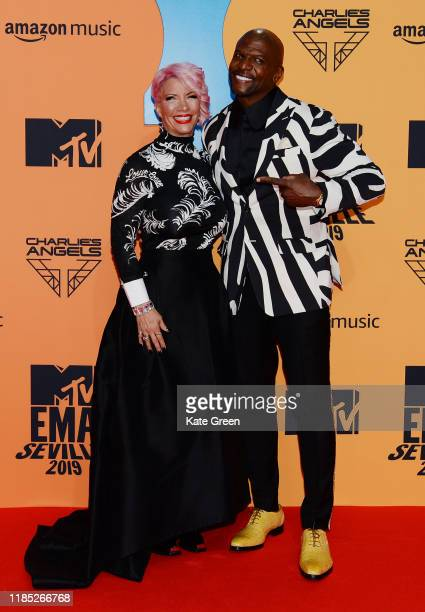 Rebecca KingCrews and Terry Crews attend the MTV EMAs 2019 at FIBES Conference and Exhibition Centre on November 03 2019 in Seville Spain