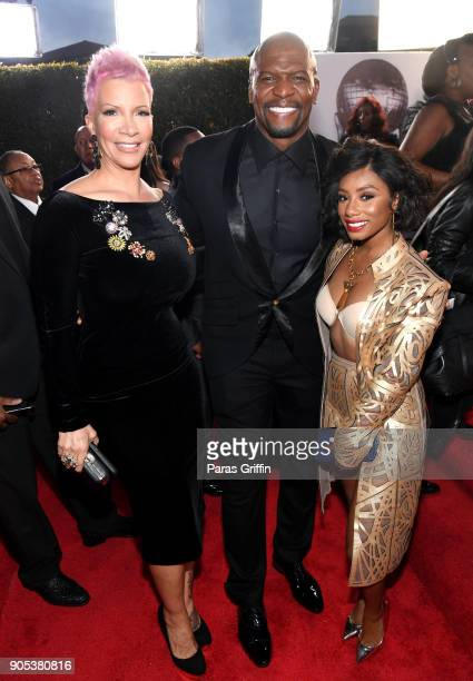 Rebecca KingCrews Terry Crews and Imani Hakim attend the 49th NAACP Image Awards at Pasadena Civic Auditorium on January 15 2018 in Pasadena...