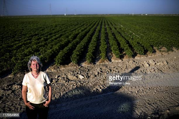 Rebecca Klein the president of the Oakland based Organic Exchange stands on one of the few massive organic farms on June 20 2006 in Fresno California