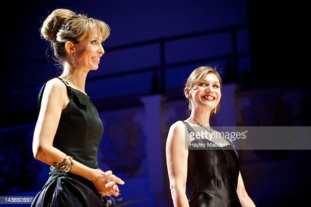 Rebecca Knight and Karen England of OperaBabes performs on stage at Cadogan Hall on May 2 2012 in London United Kingdom