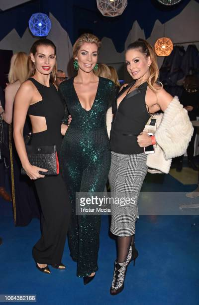 Rebecca Kunikowski, Annika Gassner and Dany Michalski during the presentation of the new Lambertz Fine Art Calendar 2019 at on November 22, 2018 in...