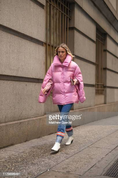 Rebecca Laurey is seen on the street during New York Fashion Week AW19 wearing Michael Kors on February 13 2019 in New York City