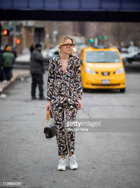 Rebecca Laurey is seen outside Boss during New York Fashion Week Autumn Winter 2019 on February 13 2019 in New York City