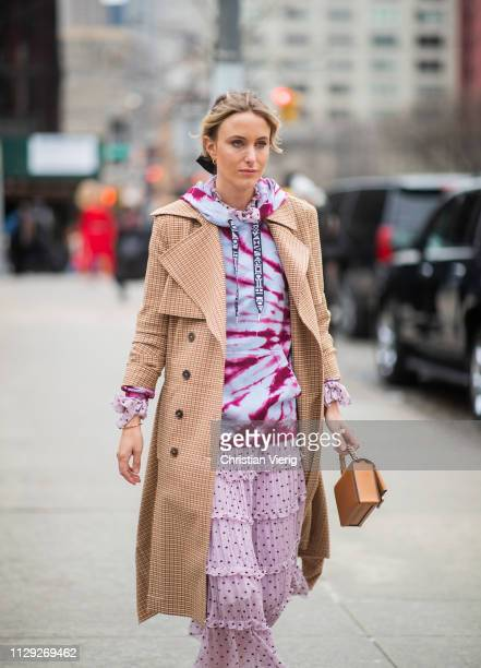 Rebecca Laurey is seen outside Zimmermann during New York Fashion Week Autumn Winter 2019 on February 11, 2019 in New York City.