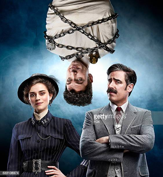 Rebecca Liddiard Michael Weston and Stephen Mangan in HOUDINI DOYLE premiering Monday May 2