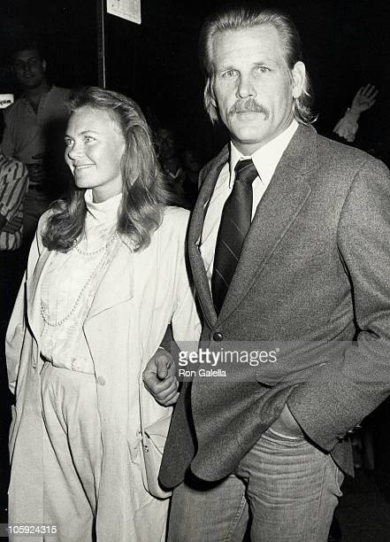 Rebecca Linger and Nick Nolte during Down and Out in Beverly Hills Los Angeles Premiere at Mann's Bruin Theater in Westwood California United States