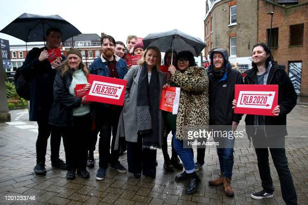 Rebecca LongBailey arrives at a hustings event for Labour Leader and Deputy Leader hosted by the Cooperative Party at the Business Design Centre on...