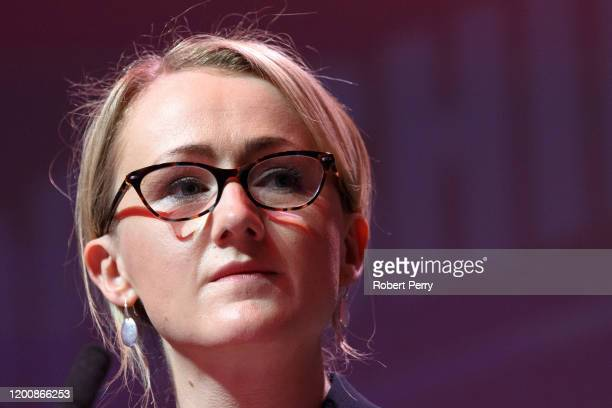 Rebecca LongBailey at the Labour leadership hustings on the stage at SEC in Glasgow on February 15 2020 in Glasgow Scotland Sir Keir Starmer Rebecca...