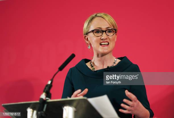Rebecca LongBailey Shadow Secretary of State for Business speaks during the Labour Party Leadership hustings at the Radisson Blu Hotel on February 23...