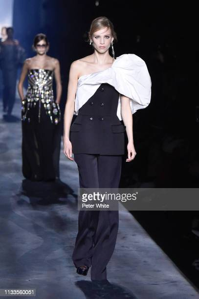 Rebecca Longendyke walks the runway during the Givenchy show as part of the Paris Fashion Week Womenswear Fall/Winter 2019/2020 on March 03 2019 in...