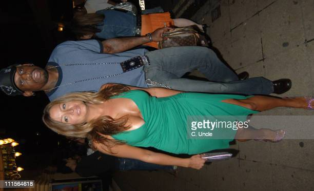 Rebecca Loos and Dennis Rodman during Dennis Rodman Party at Mo Vida in London June 30 2005 at Mo Vida in London Great Britain