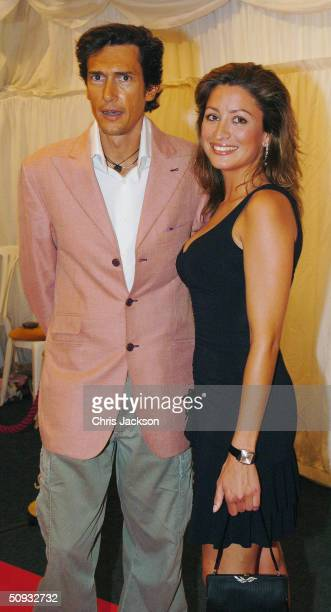 Rebecca Loos and Geoffrey Moore arrive for reality television program 'Hell's Kitchen' at Brick Lane on June 6 2004 in London The lineup before the...
