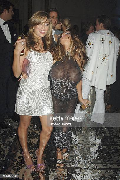 Rebecca Loos and Jordan attend Andy and Patti Wongs Chinese New Year Party at the Royal Courts Of Justice on January 28 2006 in London England The...