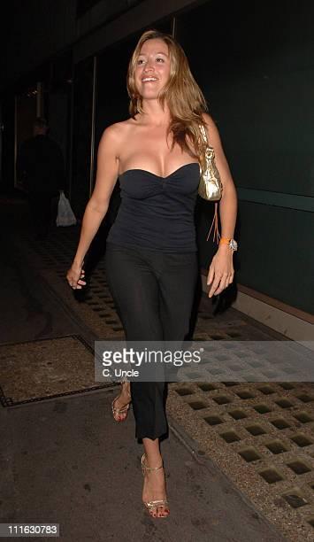 Rebecca Loos during Celebrity Sightings at Nobu - June 12, 2006 at Nobu London in London, United Kingdom.