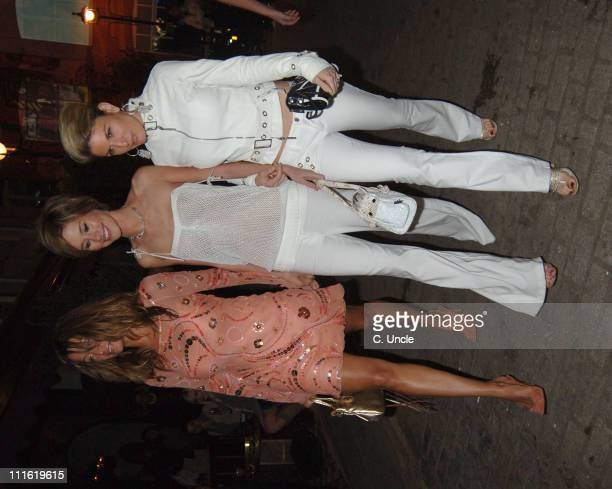 Rebecca Loos with Jasmine Lennard and Hofit Golan during Absolut Icebar Launch Party at Absolut Icebar 2933 Heddon Street in London Great Britain
