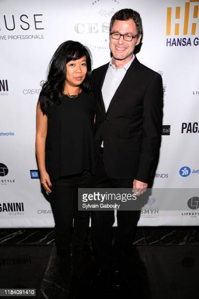 Rebecca Louie and Damon Brooks attend PAGANINI HONORS PAGANINI A Tribute To Niccolo Paganini By Maria Elena Paganini on October 28 2019 in New York...