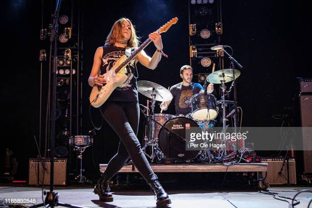 Rebecca Lowell and Kevin McGowan from Larkin Poe perform on stage at The Notodden Blues Festival on August 3 2019 in Notodden Norway