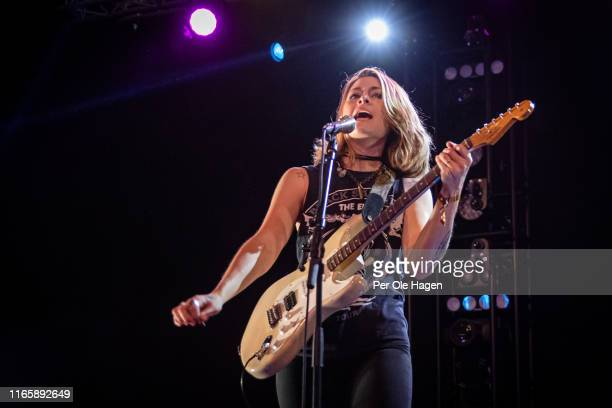 Rebecca Lowell from Larkin Poe performs on stage at The Notodden Blues Festival on August 3 2019 in Notodden Norway