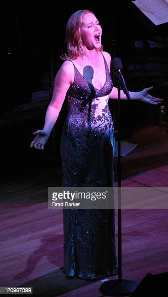 Rebecca Luker performs at Lincoln Center's Winter Gala at Alice Tully Hall in New York