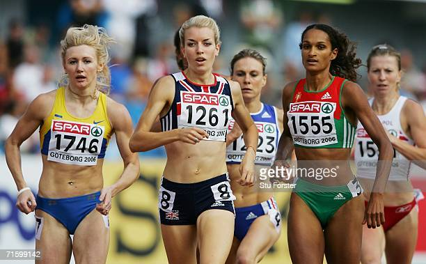 Rebecca Lyne of Great Britain leads the field during the Women's 800 Metres First Round on day one of the 19th European Athletics Championships at...