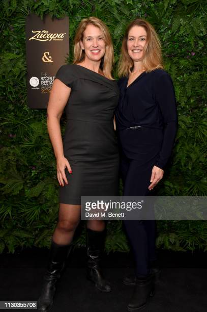 Rebecca Mackenzie and Arlene Stein attend the official Ron Zacapa rum opening event of The World Restaurant Awards 2019 at Malro on February 17th...