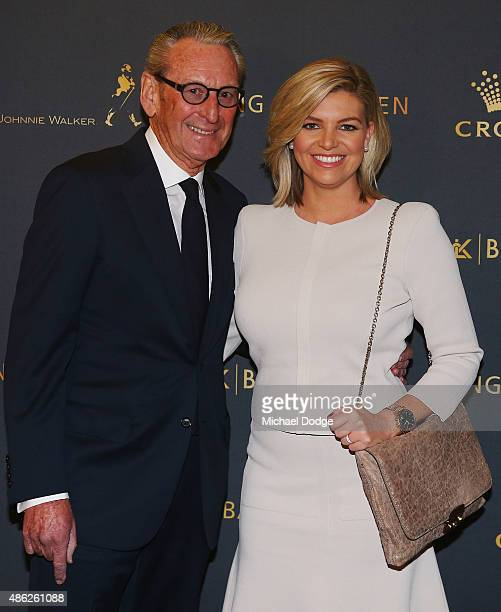 Rebecca Maddern and her stepdad Rex Gorell pose ahead of Crown's inaugural Father's Day luncheon at Crown Entertainment Complex on September 3 2015...