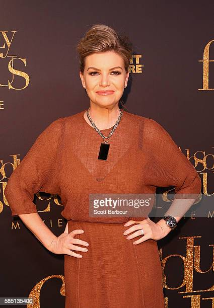 Rebecca Maddern arrives ahead of the Absolutely Fabulous The Movie Melbourne premiere at Village Cinemas Crown on August 2 2016 in Melbourne Australia