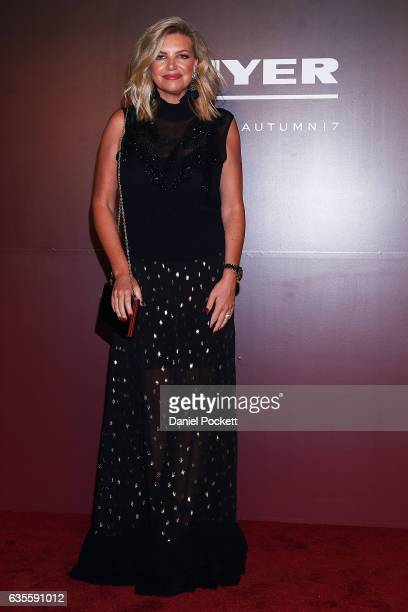 Rebecca Maddern arrives ahead of the Myer Autumn 2017 Fashion Launch on February 16 2017 in Melbourne Australia