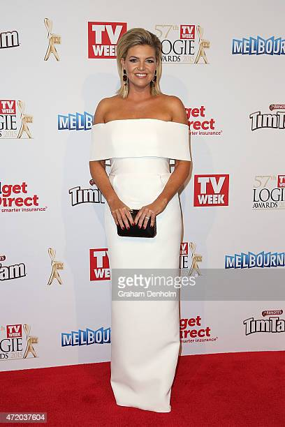 Rebecca Maddern arrives at the 57th Annual Logie Awards at Crown Palladium on May 3 2015 in Melbourne Australia