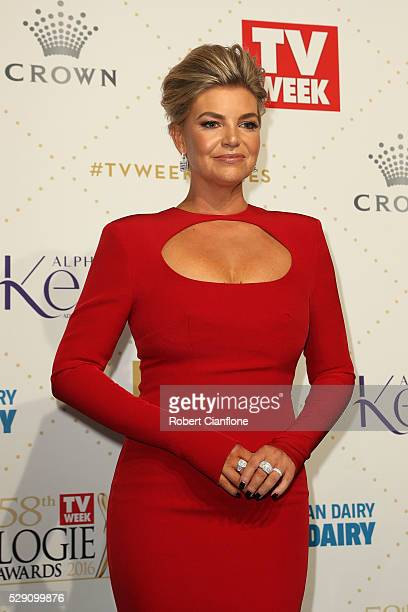 Rebecca Maddern arrives at the 58th Annual Logie Awards at Crown Palladium on May 8 2016 in Melbourne Australia