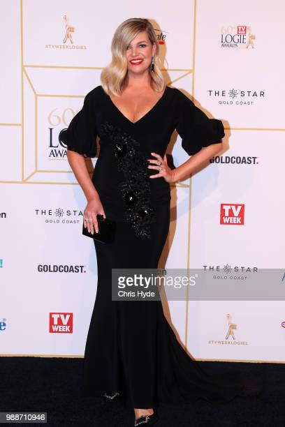 Rebecca Maddern arrives at the 60th Annual Logie Awards at The Star Gold Coast on July 1 2018 in Gold Coast Australia