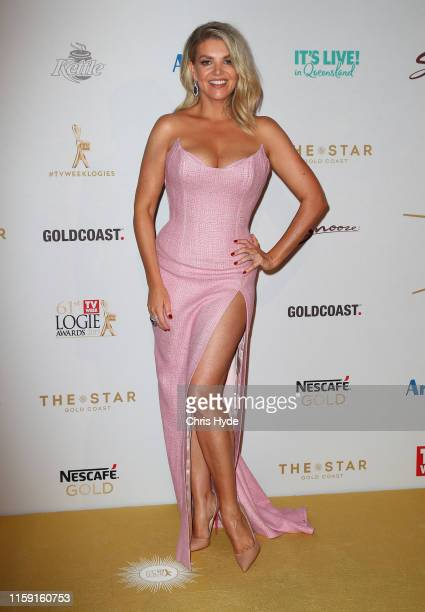 Rebecca Maddern arrives at the 61st Annual TV WEEK Logie Awards at The Star Gold Coast on June 30 2019 on the Gold Coast Australia