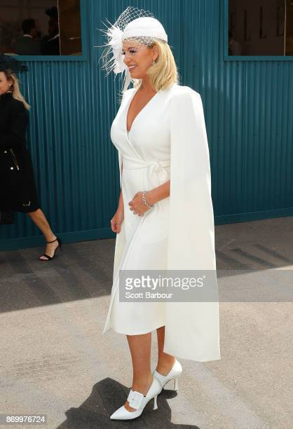 Rebecca Maddern attends on Derby Day at Flemington Racecourse on November 4 2017 in Melbourne Australia