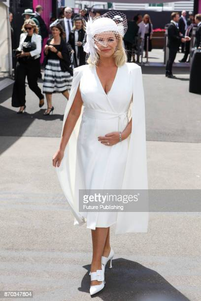 Rebecca Maddern poses at the Melbourne Cup Carnival on November 4 2017PHOTOGRAPH BY Chris Putnam / Barcroft Images LondonT44 207 033 1031...