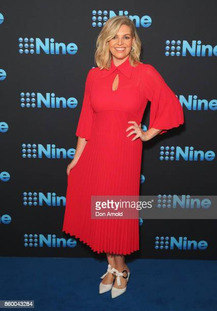 Rebecca Maddern poses during the Channel Nine Upfronts 2018 event on October 11 2017 in Sydney Australia