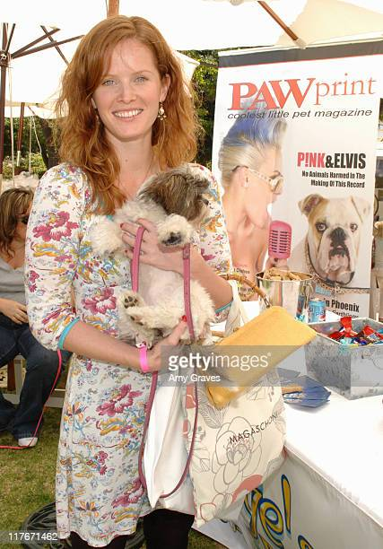 Rebecca Mader and Bella Paw Print Magazine during The Silver Spoon Hosts 4th Annual Dog and Baby Buffet Day One at Wattles Mansion in Hollywood...