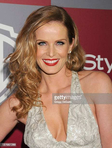 Rebecca Mader arrives at the 12th Annual Warner Bros and Instyle PostGolden Globe Party at the Beverly Hilton Hotel on January 16 2011 in Beverly...