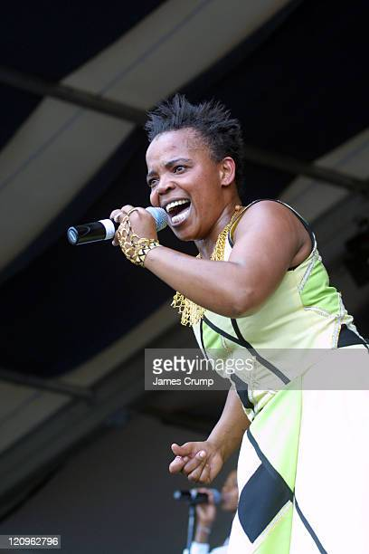 Rebecca Malope during 35th Anniversary of the New Orleans Jazz Heritage Festival Day 2 at New Orleans Fair Grounds in New Orleans LA United States